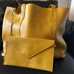 Furla Tote with Matching Clutch